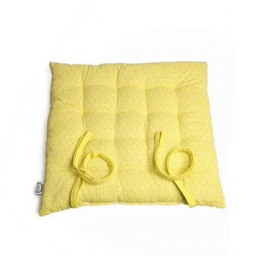 coussin cotton jaune imprim citrons blanches dille kamille poisson fruits de mer. Black Bedroom Furniture Sets. Home Design Ideas