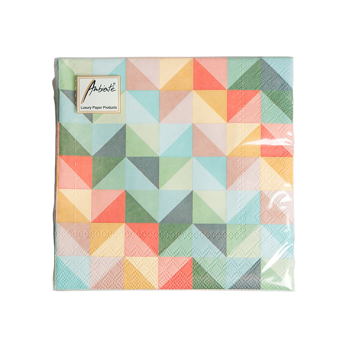 Serviettes De Table Papier Motif De Triangles De Couleur 20pcs Dille Kamille Une F Te