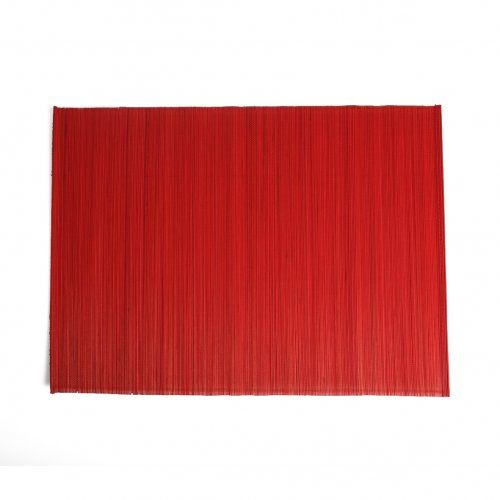 Set de table bambou rouge dille kamille les - Set de table rouge ...