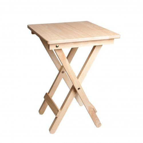 Table dappoint rabattable en bois d'hévéa  Dille & Kamille