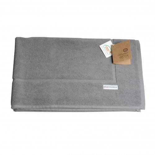 tapis de bain en coton bio couleur gris fonc dille kamille faire ses conserves. Black Bedroom Furniture Sets. Home Design Ideas