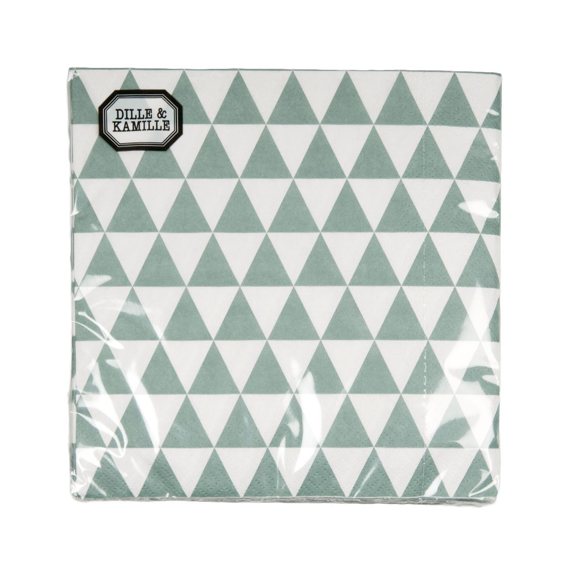 Serviettes en papier, triangles, gris-vert, 20pcs