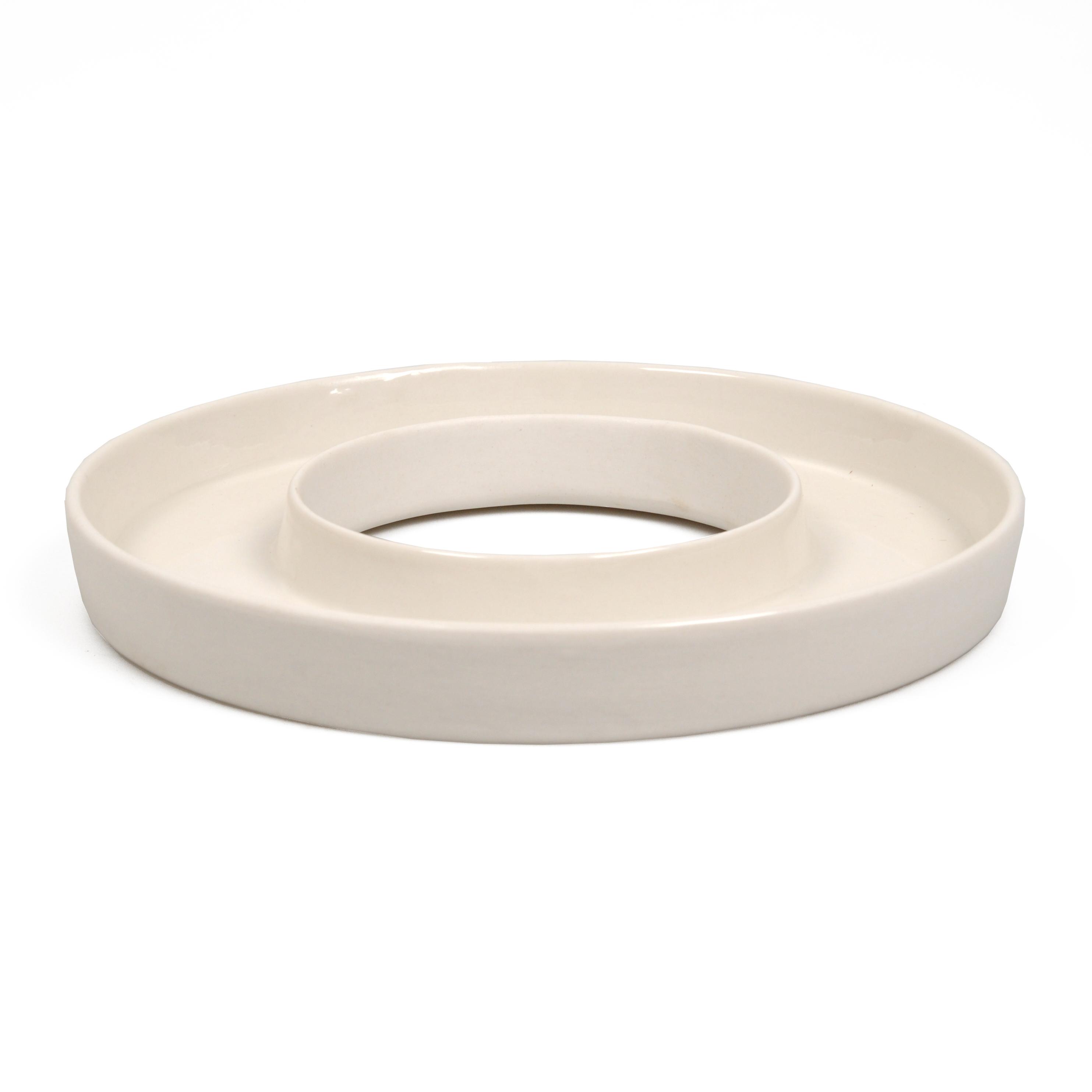 Waxinelichthouder, porselein,Ø 22 cm