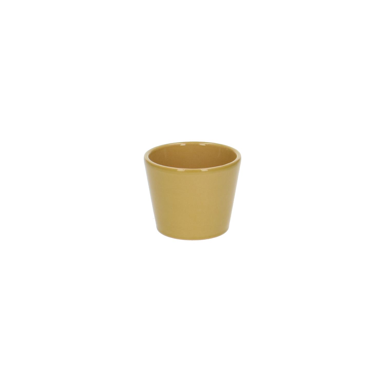 Bloempot aardewerk geel 7 cm