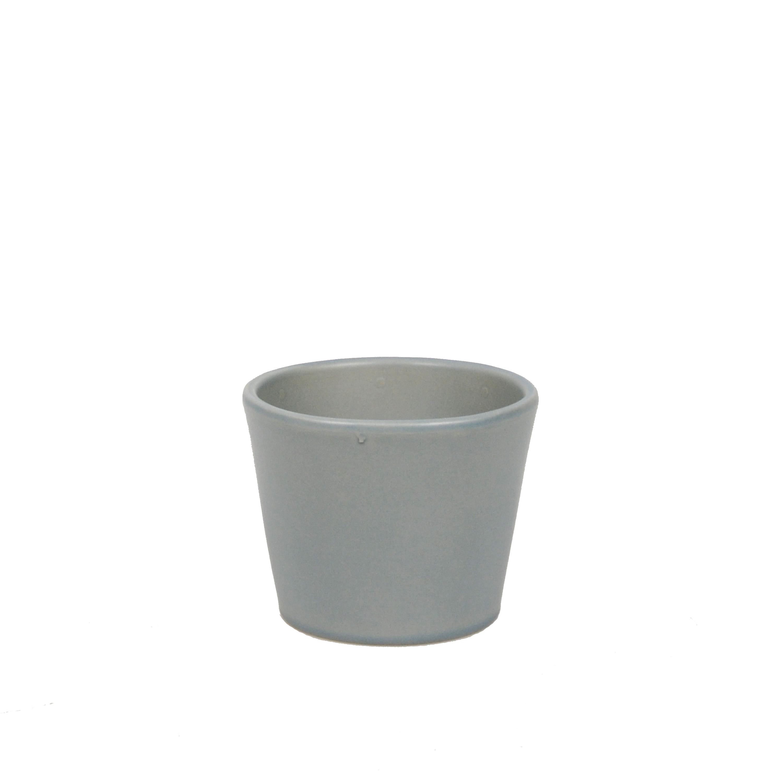 Bloempot aardewerk mat grijs 7 cm