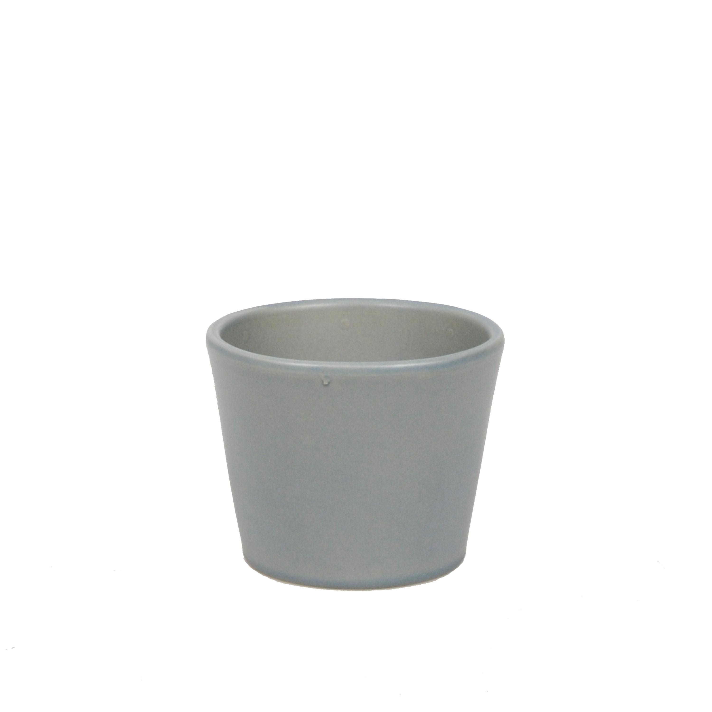 Bloempot aardewerk mat grijs 12 cm