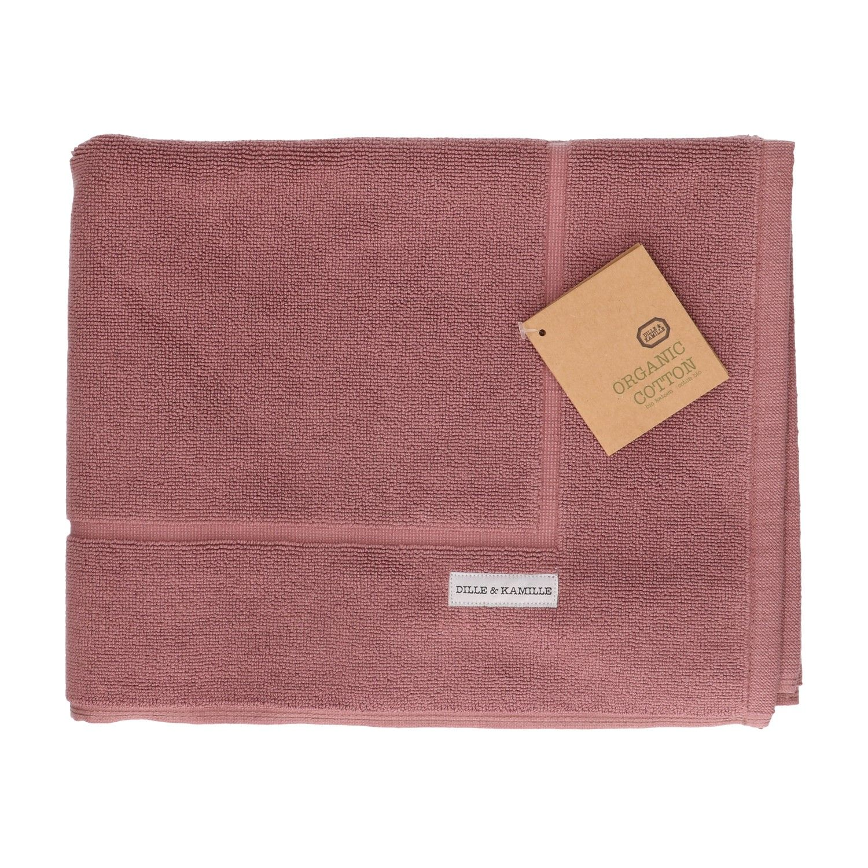 Badmat bio katoen grijs roze 50 x 85 cm