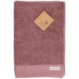 Badhanddoek bio katoen grijs roze 70 x 140 cm
