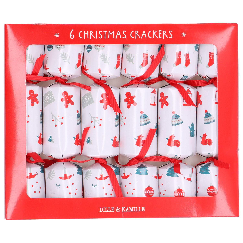 Christmas crackers, cosy, 6 stuks