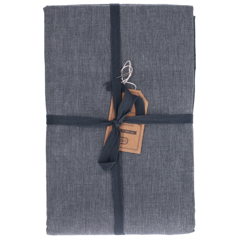 Tafelkleed, katoen, antraciet gemêleerd, Ø 180 cm