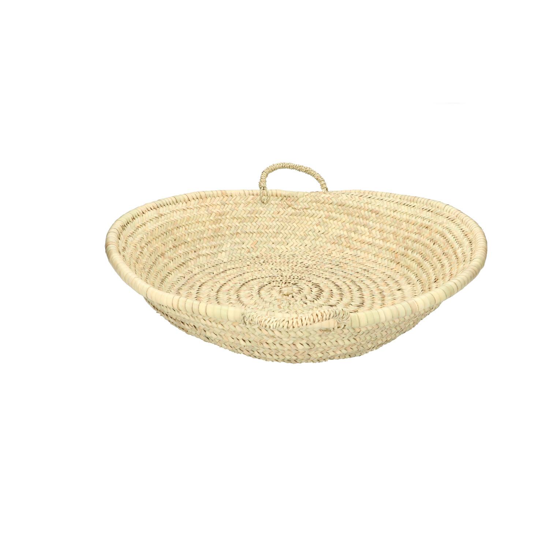Schaal met handvatten palmblad 55 cm