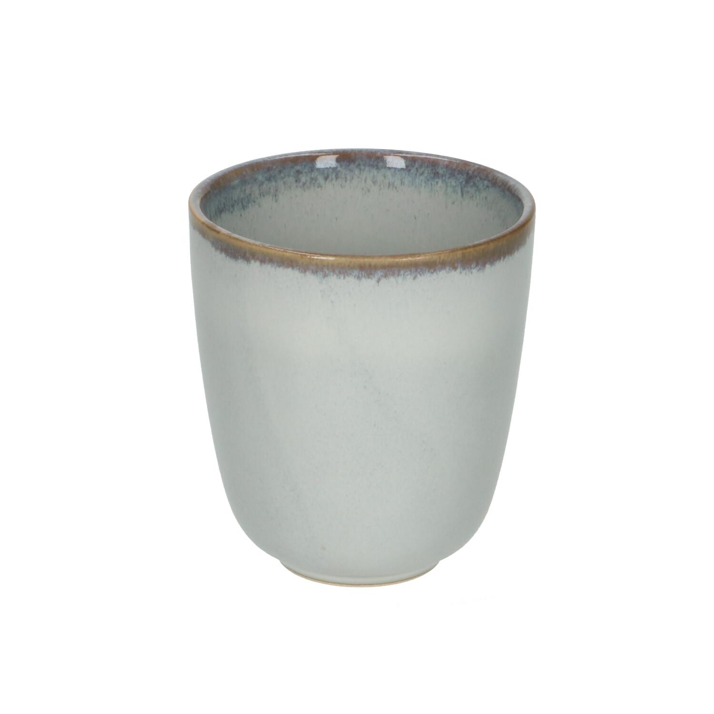 Beker reactieve glazuur steengoed grijs