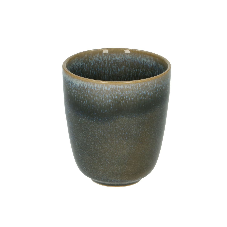 Beker reactieve glazuur steengoed blauw