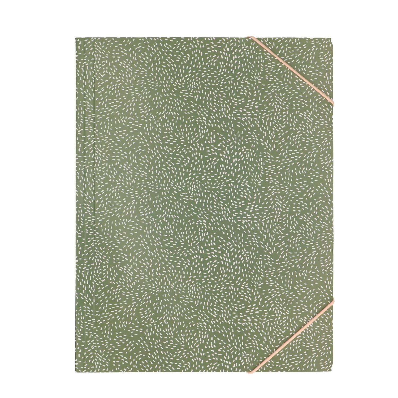 Bewaarmap groen gestippeld A4