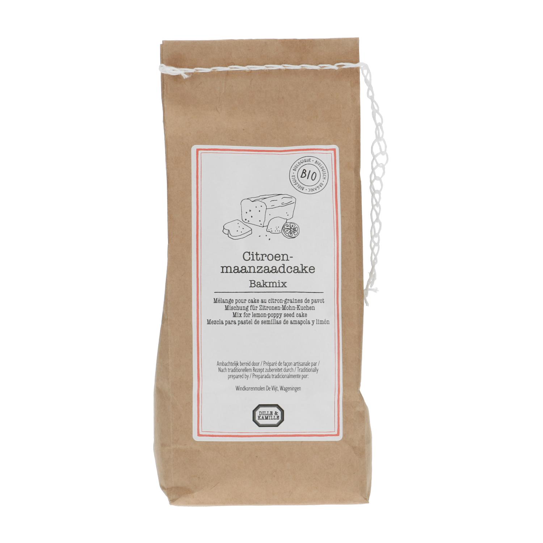 Bakmix voor citroen maanzaadcake biologisch 500 gr