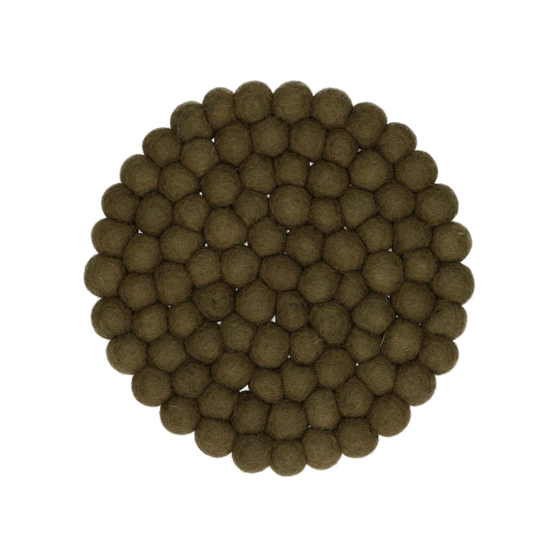 Onderzetter vilt mosgroen 22 cm