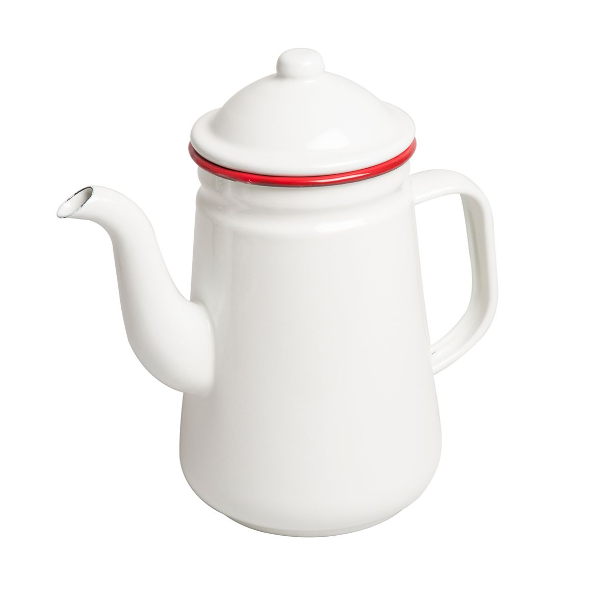 Koffiepot, emaille, rood, 1 liter