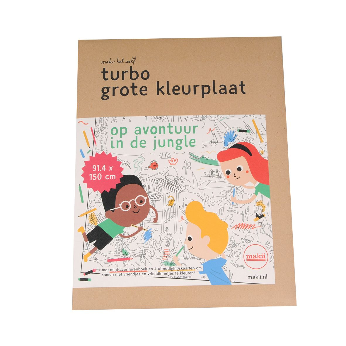 Turbo kleurplaat, jungle