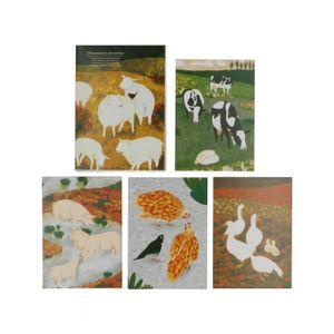 5 Karten mit Umschlägen, World Animal Protection, Tiere auf dem Bauernhof