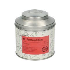 Aardbei & hibiscus, biologisch, Fruitmelange, blik, 75 gram