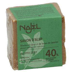 Aleppo-zeep, 60% olijfolie & 40% laurierbessenolie, 185 gram