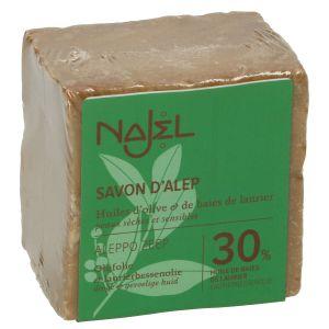 Aleppo-zeep, 70% olijfolie & 30% laurierbessenolie, 200 gram