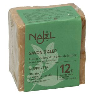 Aleppo-zeep, 88% olijfolie & 12% laurierbessenolie, 200 gram