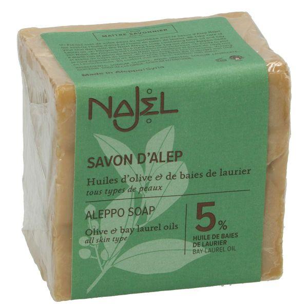 Aleppo zeep 95 olijfolie5 laurierbessenolie 200 gram