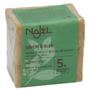 Aleppo-zeep, 95% olijfolie & 5% laurierolie, 200 gram