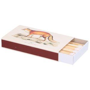 Allumettes, boîte illustrée, renard & ours