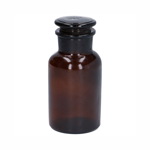 Apothekerspot, glas, bruin, Ø 7 x 14,5 cm