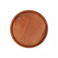 Assiette, bois d'acacia, Ø 15 x 1,5 cm