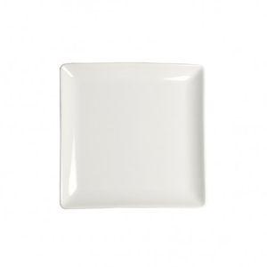 Assiette carré en porcelaine 12 x 12 cm