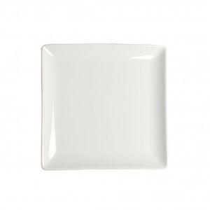 Assiette carré en porcelaine 16 x 16 cm