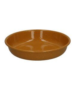 Assiette creuse, émail, jaune ocre, Ø 19 cm