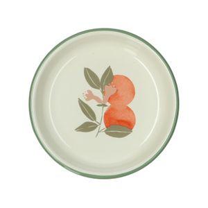 Assiette creuse, émail, oranges, Ø 15 cm
