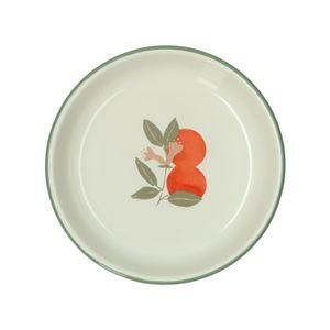 Assiette creuse, émail, oranges, Ø 19 cm