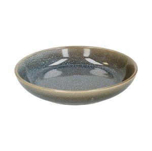 Assiette creuse en grès, émail reactif, bleu, Ø 22 cm