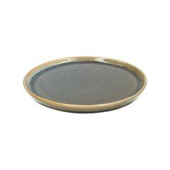 Assiette de pâtisserie email réactif, grès, bleu, Ø 15 cm