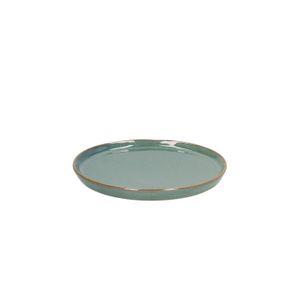 Assiette de pâtisserie email réactif, grès, vert, Ø 15 cm