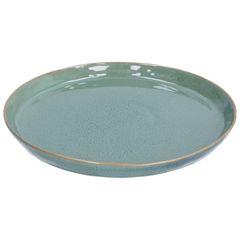 Assiette email réactif, grès, vert, Ø 26 cm