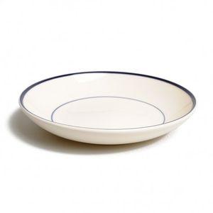Assiette profonde 'Bord', faïence, bleu foncé, Ø 23 cm