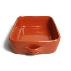 Auflaufform, rotes Steingut, 28 x 20 x 6 cm