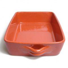 Auflaufform, rotes Steingut, 33,5 x 24 x 7 cm