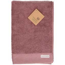 Badhanddoek, bio-katoen, grijs/roze, 70 x 140 cm
