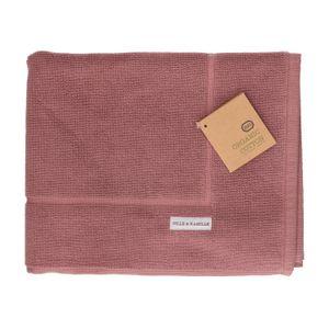 Badmat, bio-katoen, grijs/roze, 50 x 85 cm