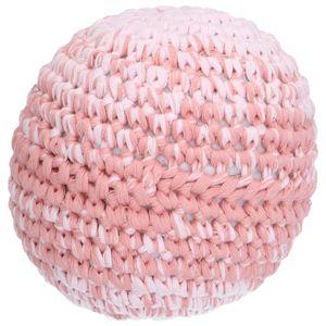Bal, katoen gehaakt, roze, Ø 15 cm