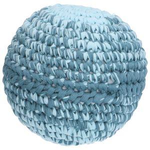 Balle, coton crochet, bleu, Ø 15 cm
