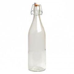 Beugelfles, glas, 1 l