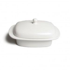 Beurrier, porcelaine, couvercle
